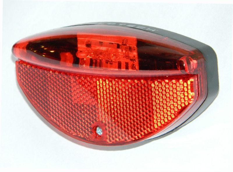 lámpa hátsó 3 LED dinamós