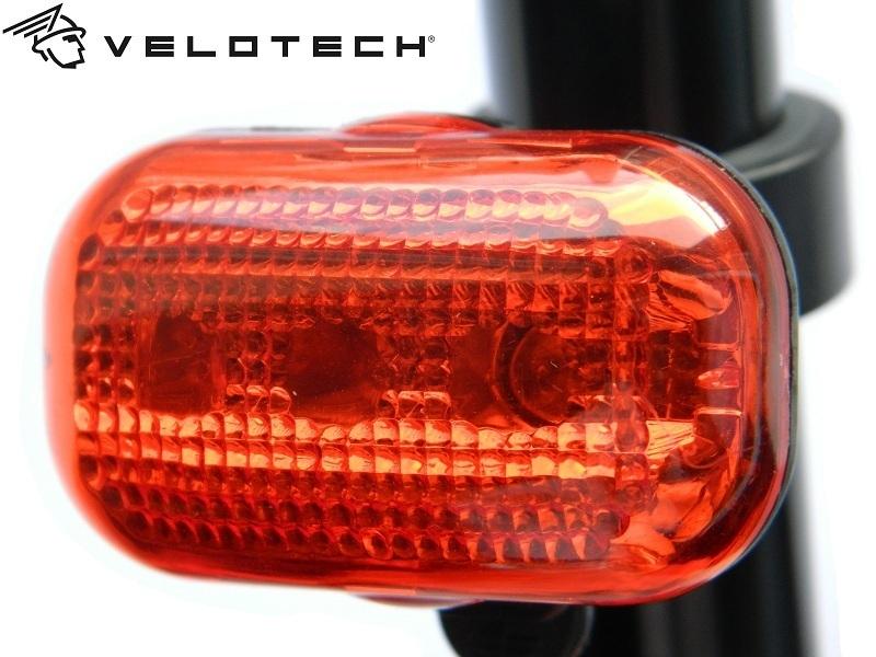 Villogó hátsó VELOTECH 3 LED