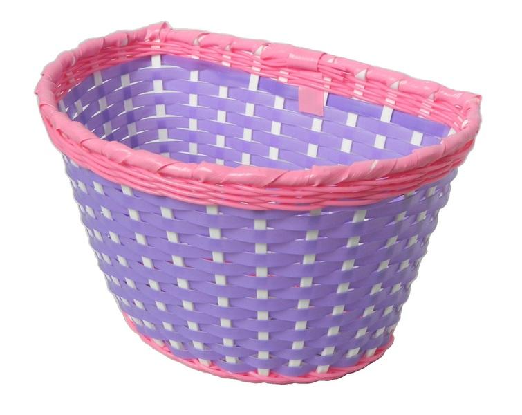 Kosár gyerek műanyag lila-pink